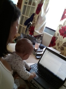 Writing with Baby1